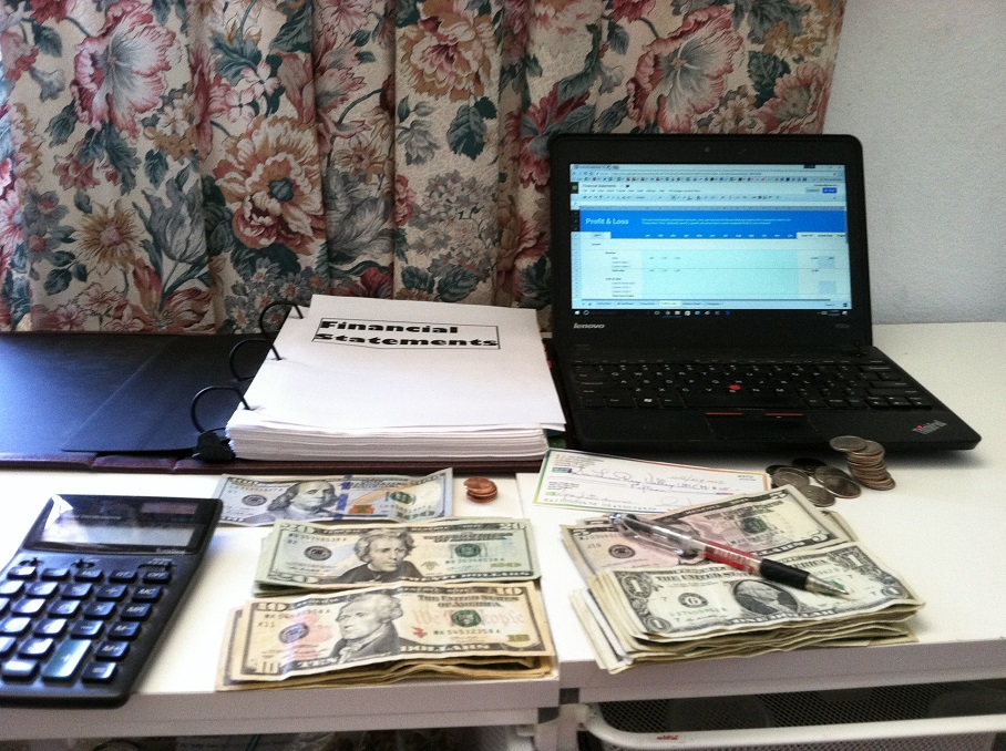accountant's tools on a desk