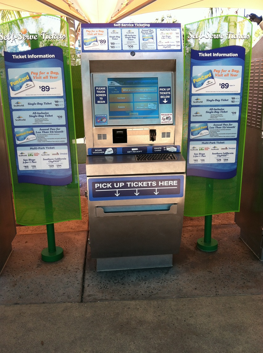 kiosk to sell tickets