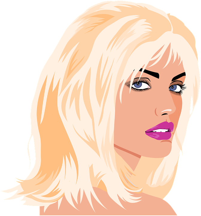 animated beautiful woman profile
