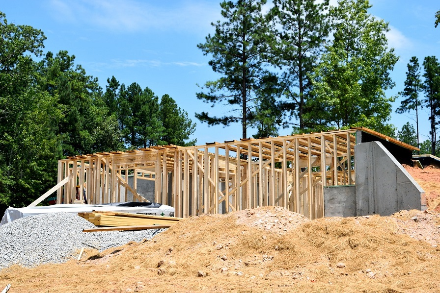 frame work of building a home
