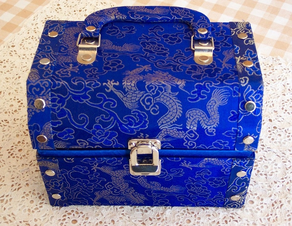 blue jewelry case