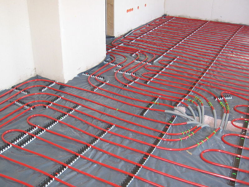 floor heating cables installation
