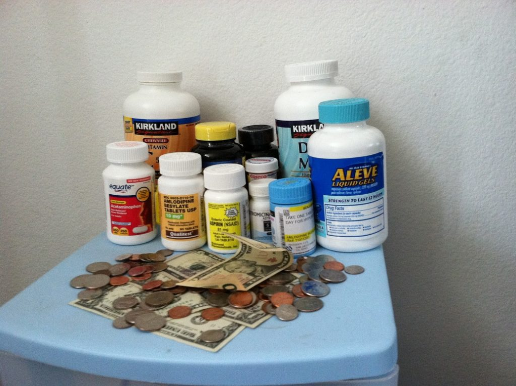 money and medicines.