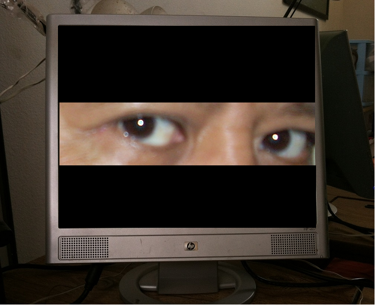 eyes on a computer monitor