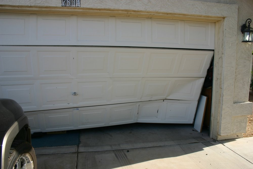 damaged garage door panels