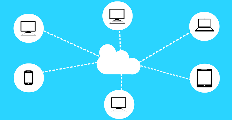 illustration explaining cloud computing