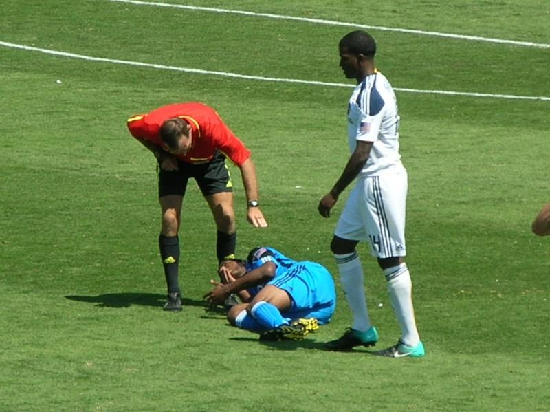 soccer player gets injured