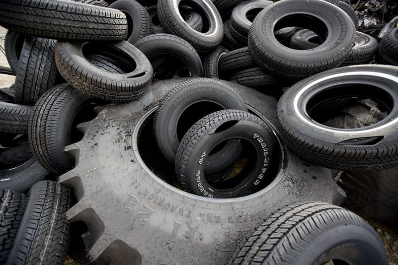 used tires recycling center